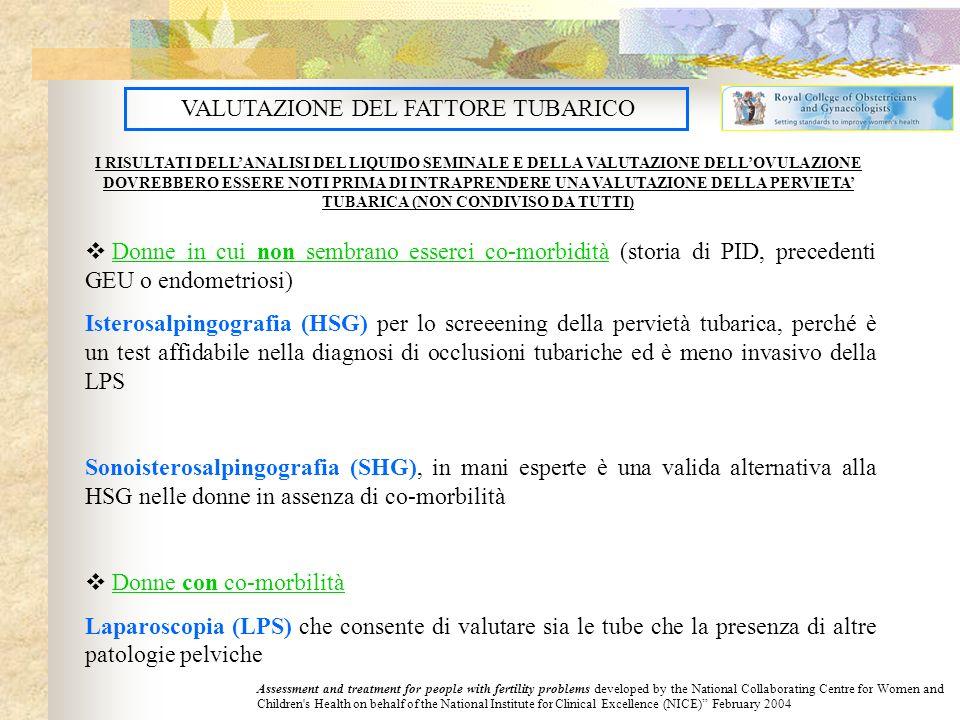VALUTAZIONE DEL FATTORE TUBARICO