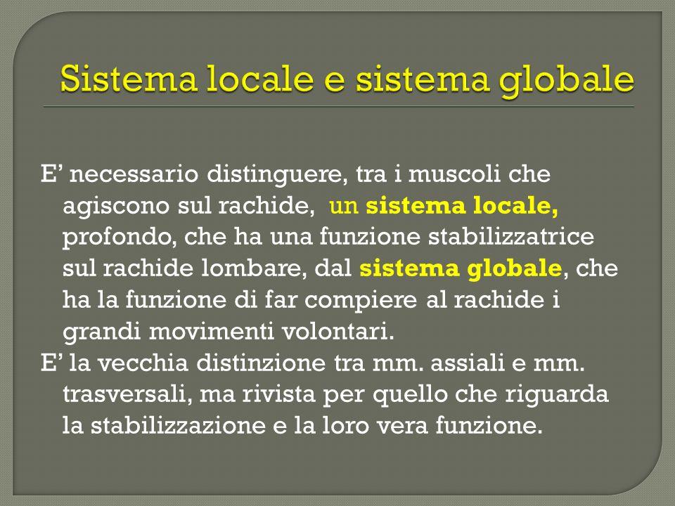 Sistema locale e sistema globale