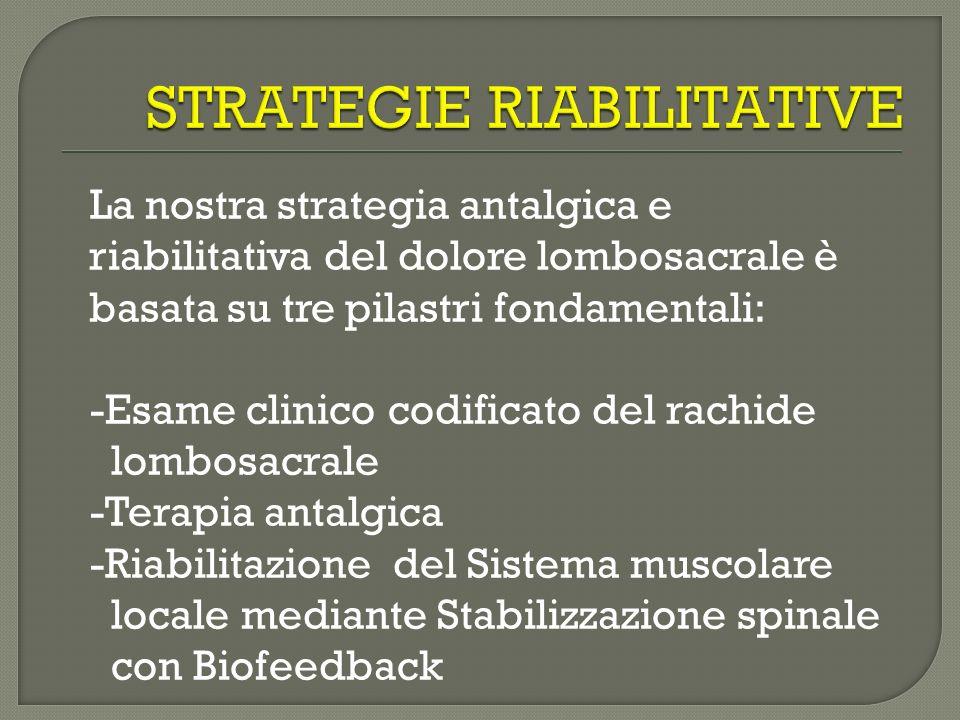 STRATEGIE RIABILITATIVE