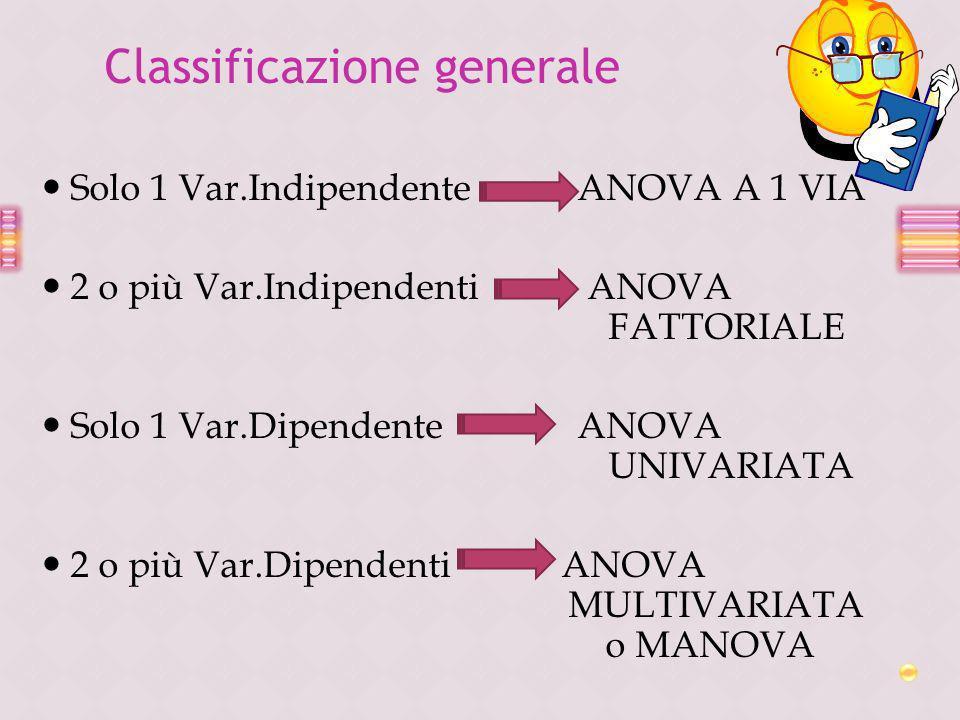 Classificazione generale