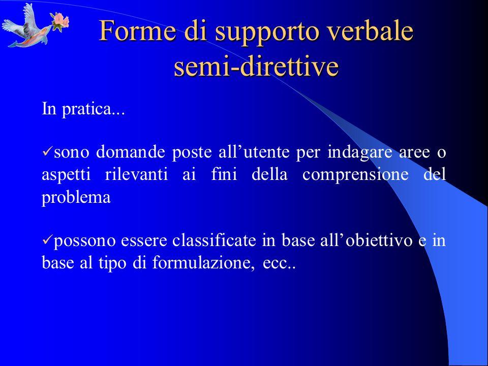 Forme di supporto verbale semi-direttive