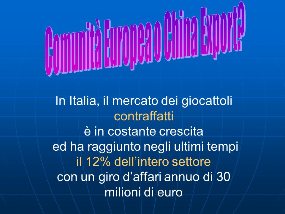 Comunità Europea o China Export