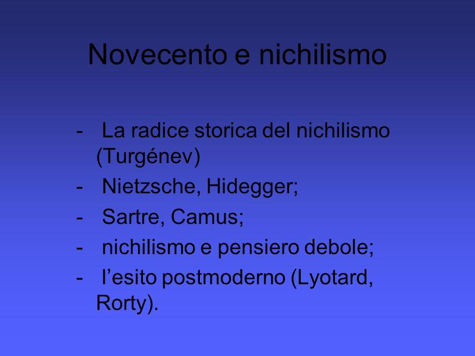 Novecento e nichilismo