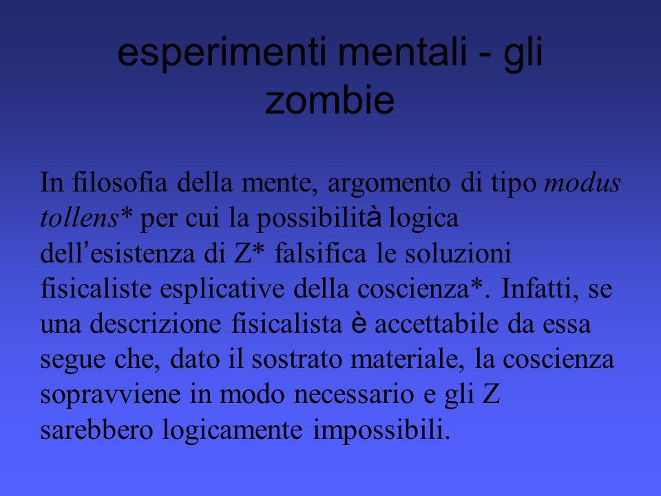 esperimenti mentali - gli zombie