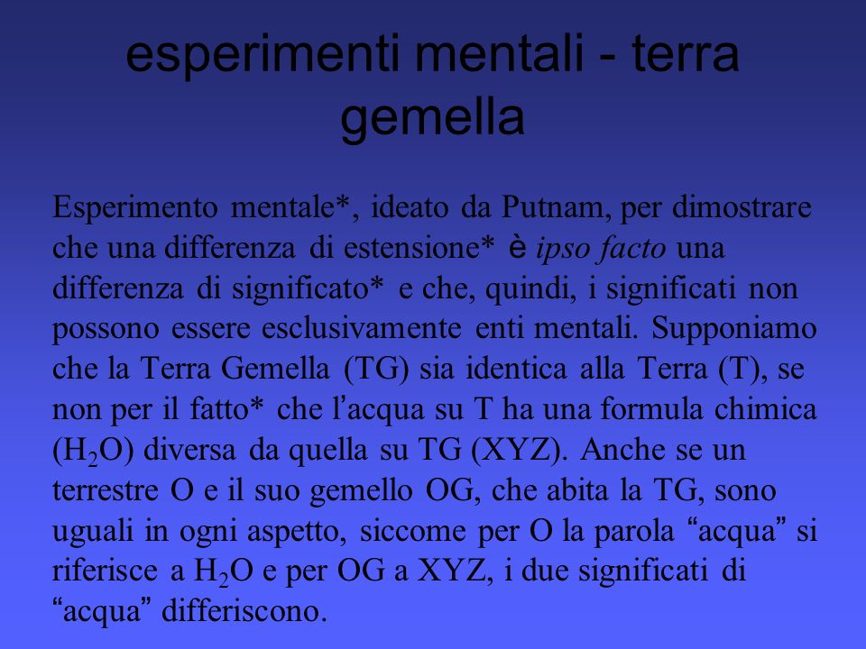 esperimenti mentali - terra gemella