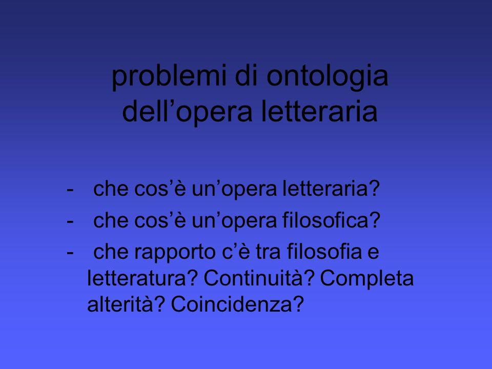 problemi di ontologia dell'opera letteraria