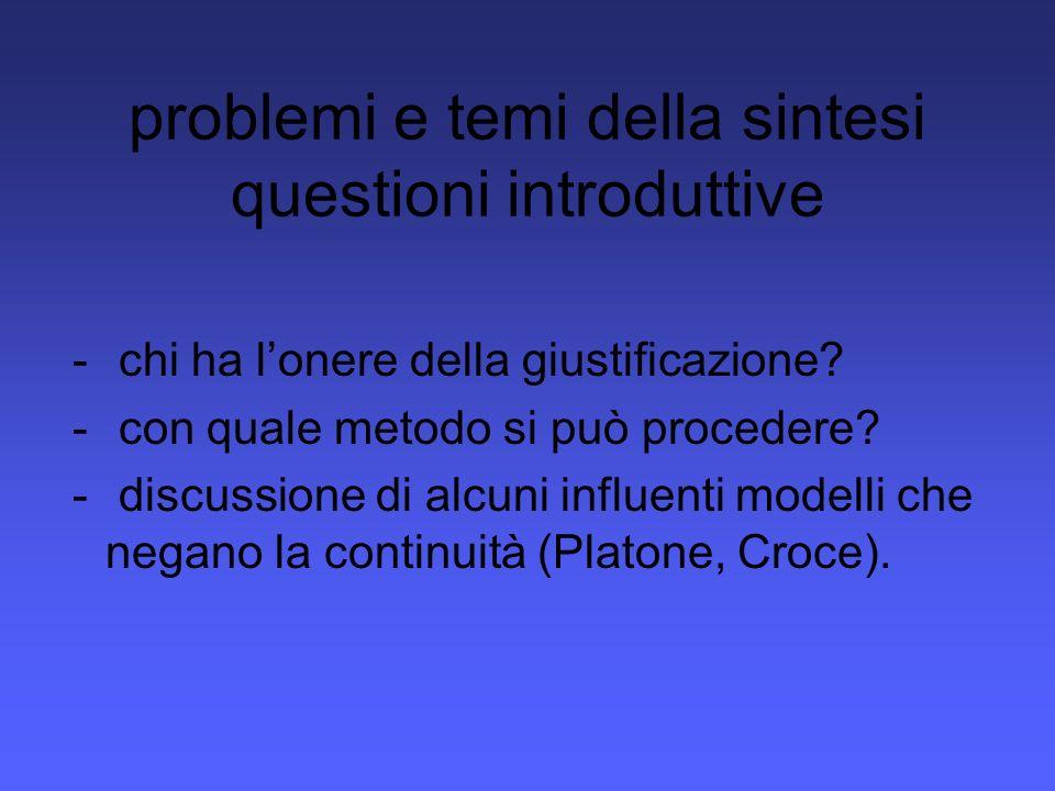 problemi e temi della sintesi questioni introduttive