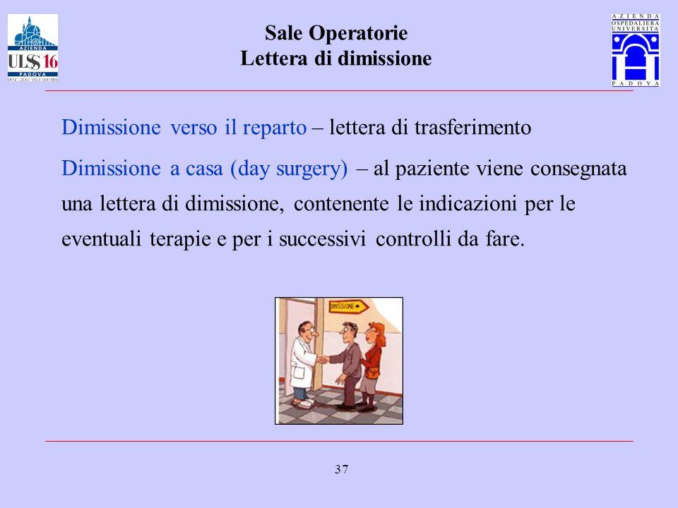 Sale Operatorie Lettera di dimissione