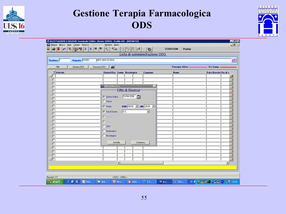 Gestione Terapia Farmacologica ODS