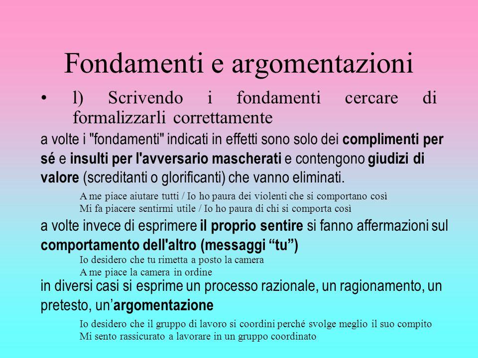 Fondamenti e argomentazioni