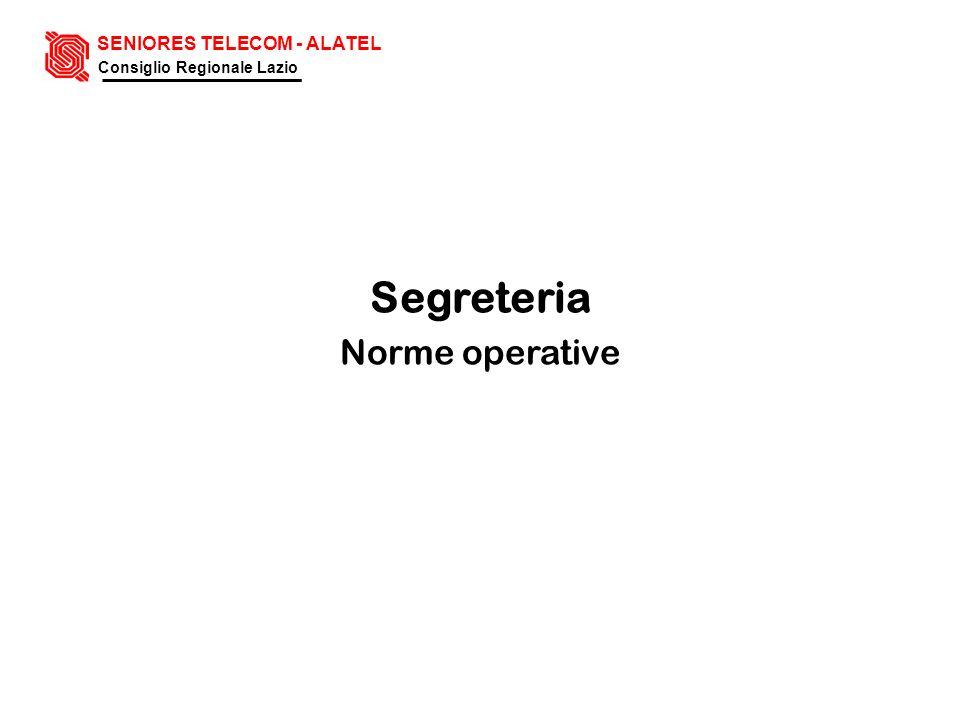 Segreteria Norme operative