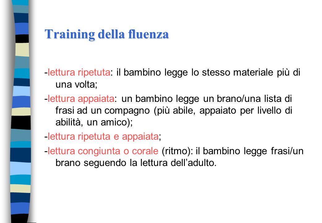 Training della fluenza