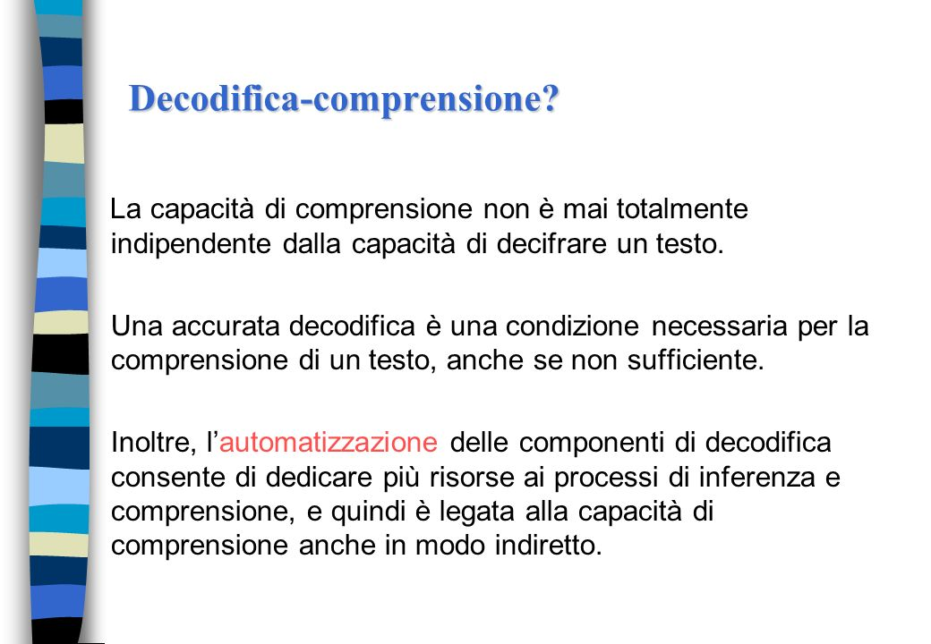 Decodifica-comprensione