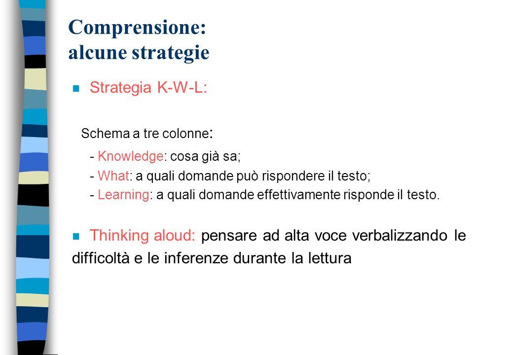 Comprensione: alcune strategie