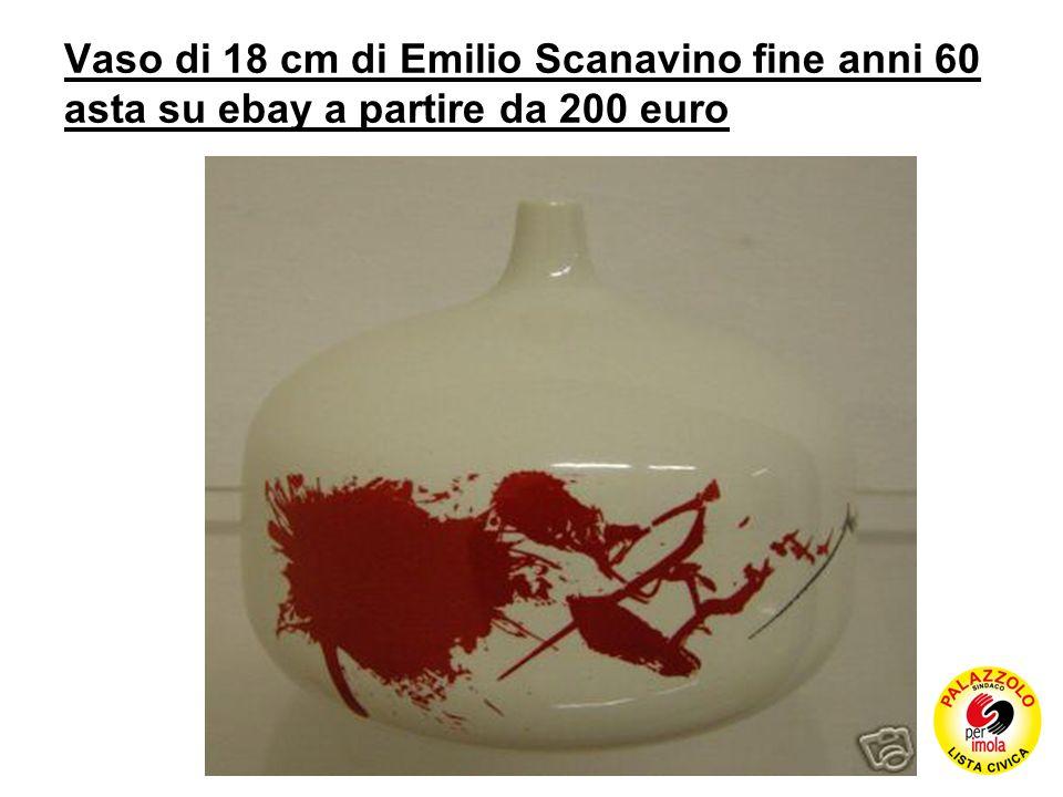 Vaso di 18 cm di Emilio Scanavino fine anni 60 asta su ebay a partire da 200 euro