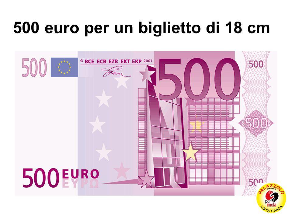 500 euro per un biglietto di 18 cm