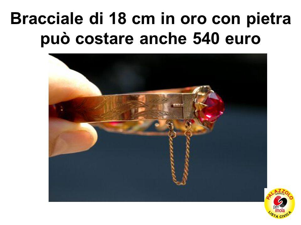 Bracciale di 18 cm in oro con pietra può costare anche 540 euro