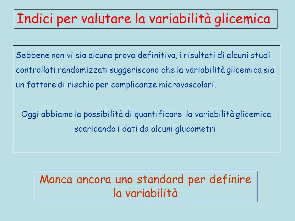 Manca ancora uno standard per definire la variabilità