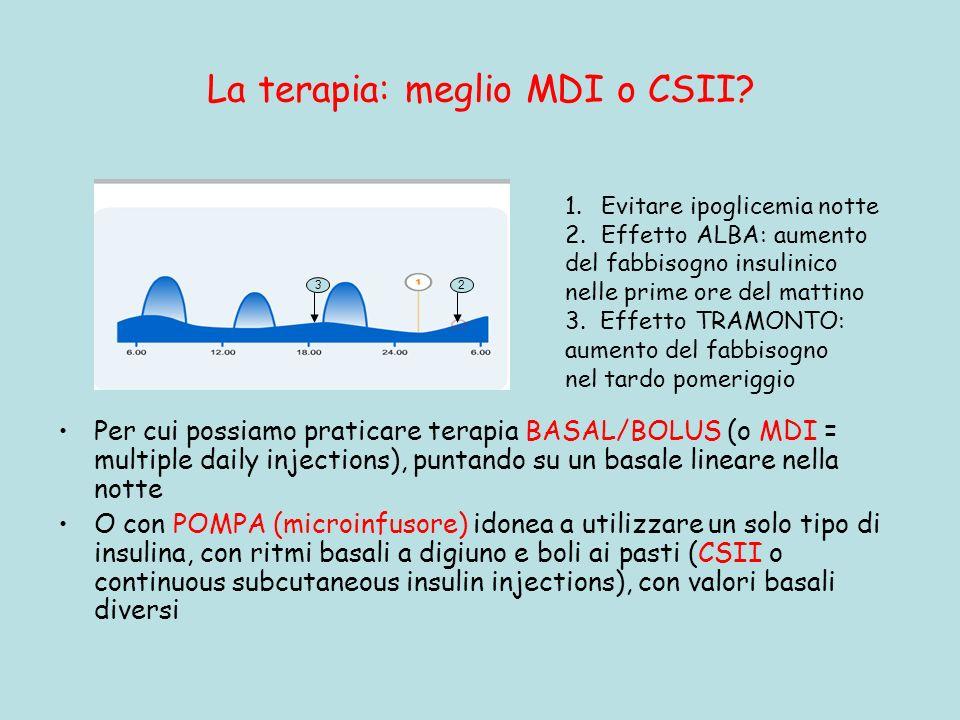 La terapia: meglio MDI o CSII