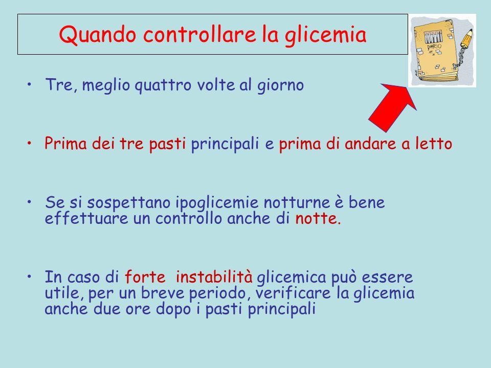 Quando controllare la glicemia