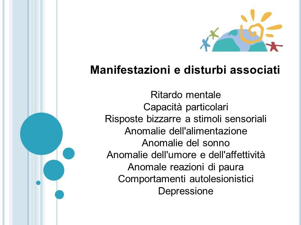 Manifestazioni e disturbi associati