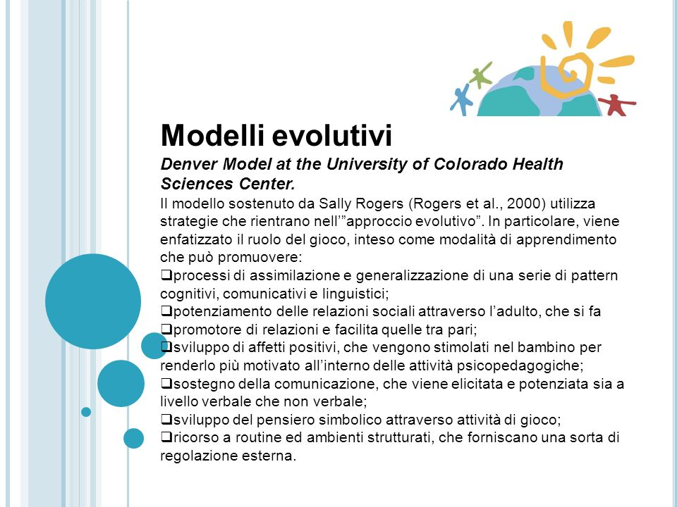 Modelli evolutivi Denver Model at the University of Colorado Health Sciences Center.
