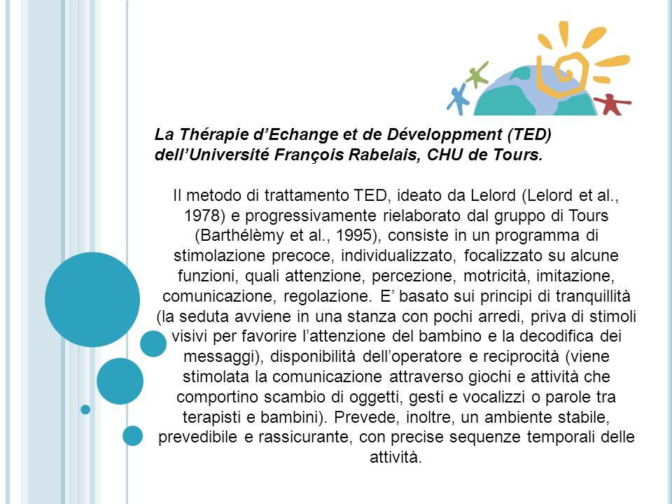 La Thérapie d'Echange et de Développment (TED) dell'Université François Rabelais, CHU de Tours.