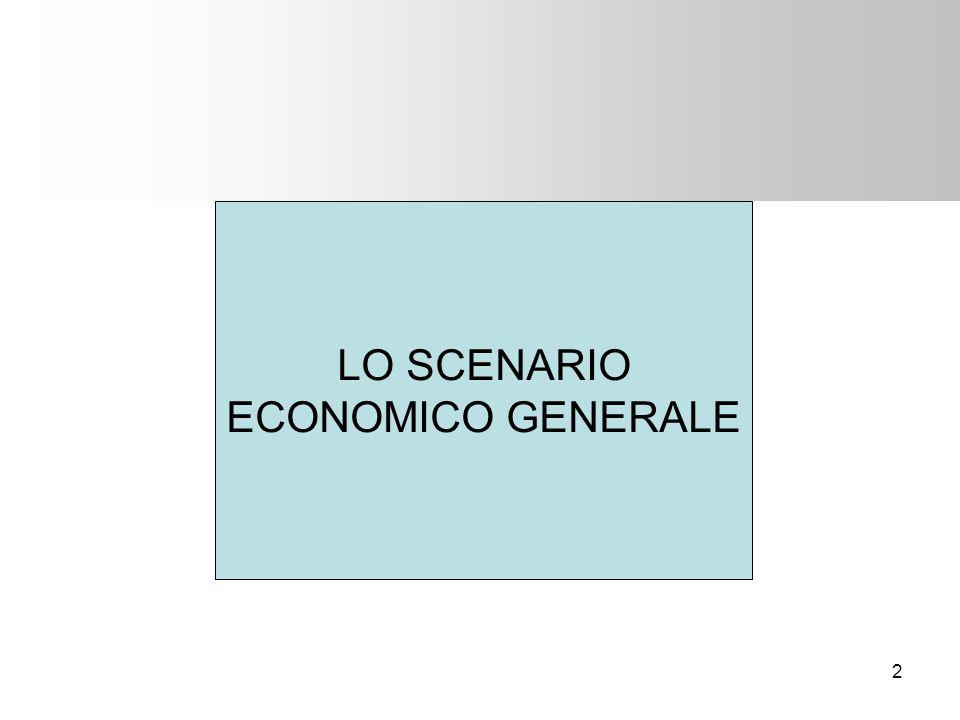 LO SCENARIO ECONOMICO GENERALE