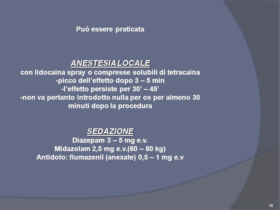 Antidoto: flumazenil (anexate) 0,5 – 1 mg e.v