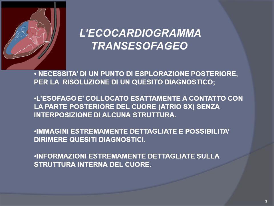 L'ECOCARDIOGRAMMA TRANSESOFAGEO