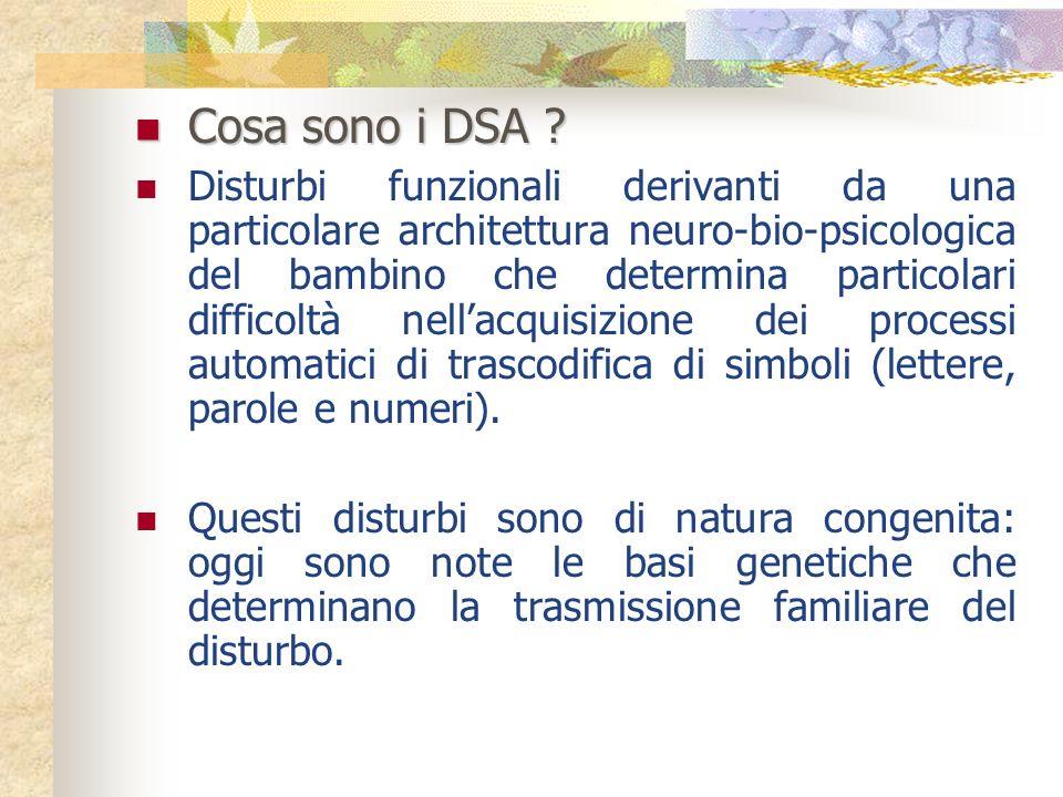 Cosa sono i DSA