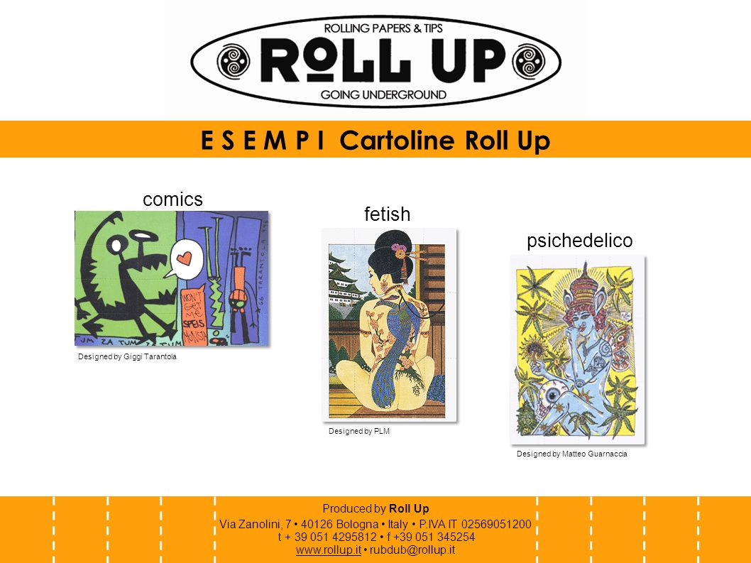 E S E M P I Cartoline Roll Up
