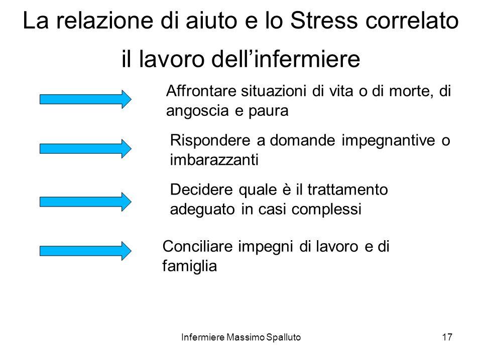 La relazione di aiuto e lo Stress correlato il lavoro dell'infermiere