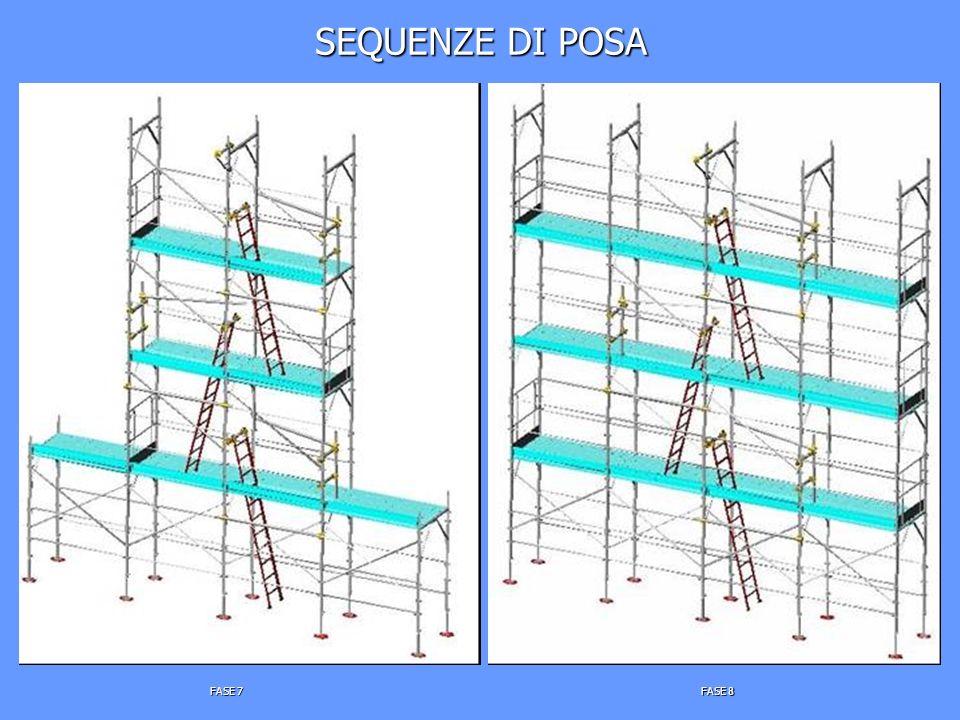 SEQUENZE DI POSA FASE 7 FASE 8