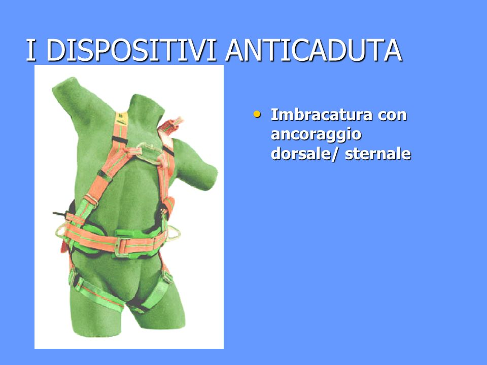 I DISPOSITIVI ANTICADUTA
