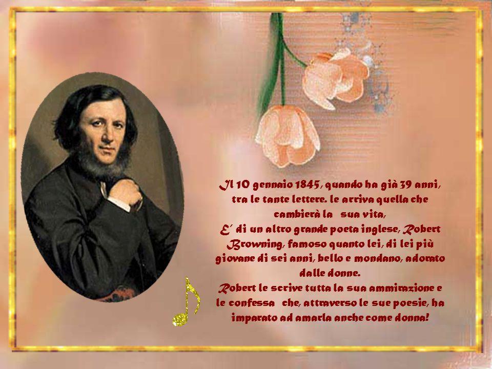 Il 10 gennaio 1845, quando ha già 39 anni, tra le tante lettere