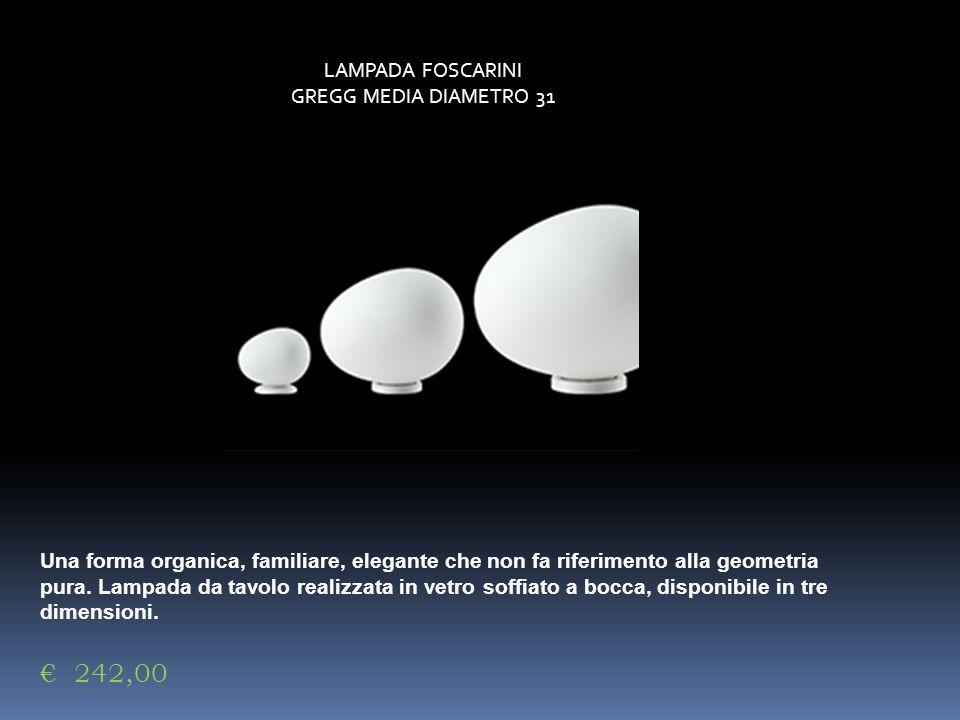 € 242,00 LAMPADA FOSCARINI GREGG MEDIA DIAMETRO 31