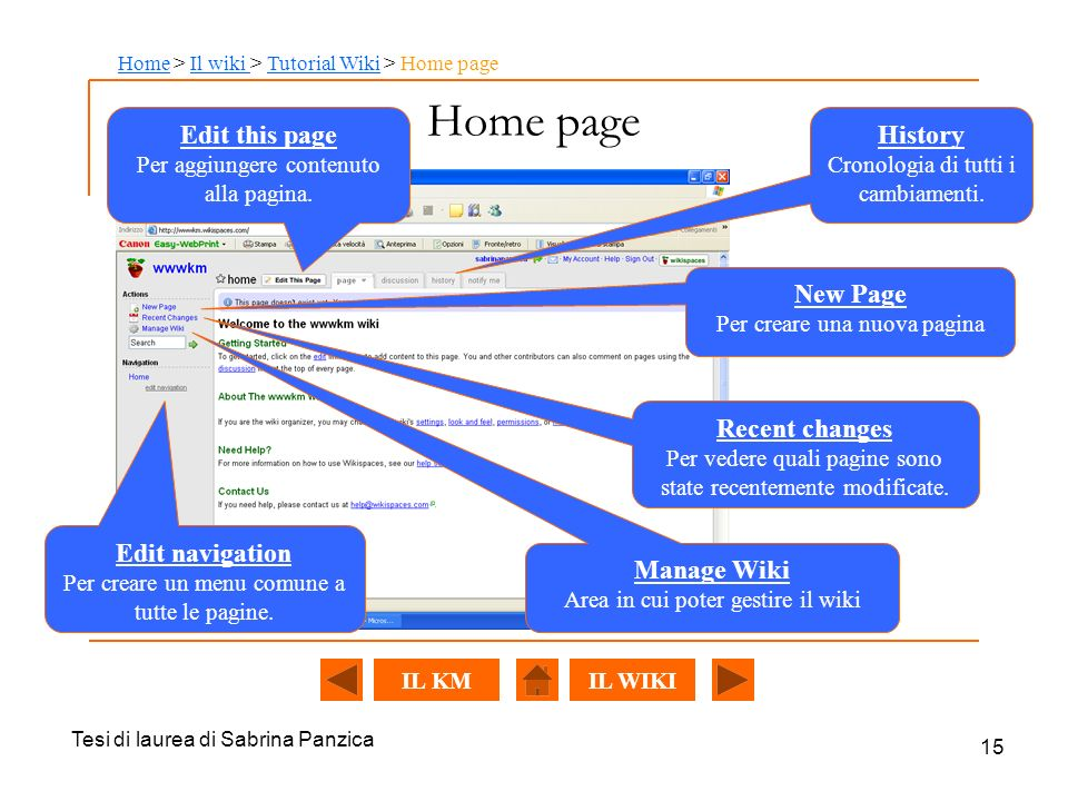 Home page Edit this page History New Page Recent changes