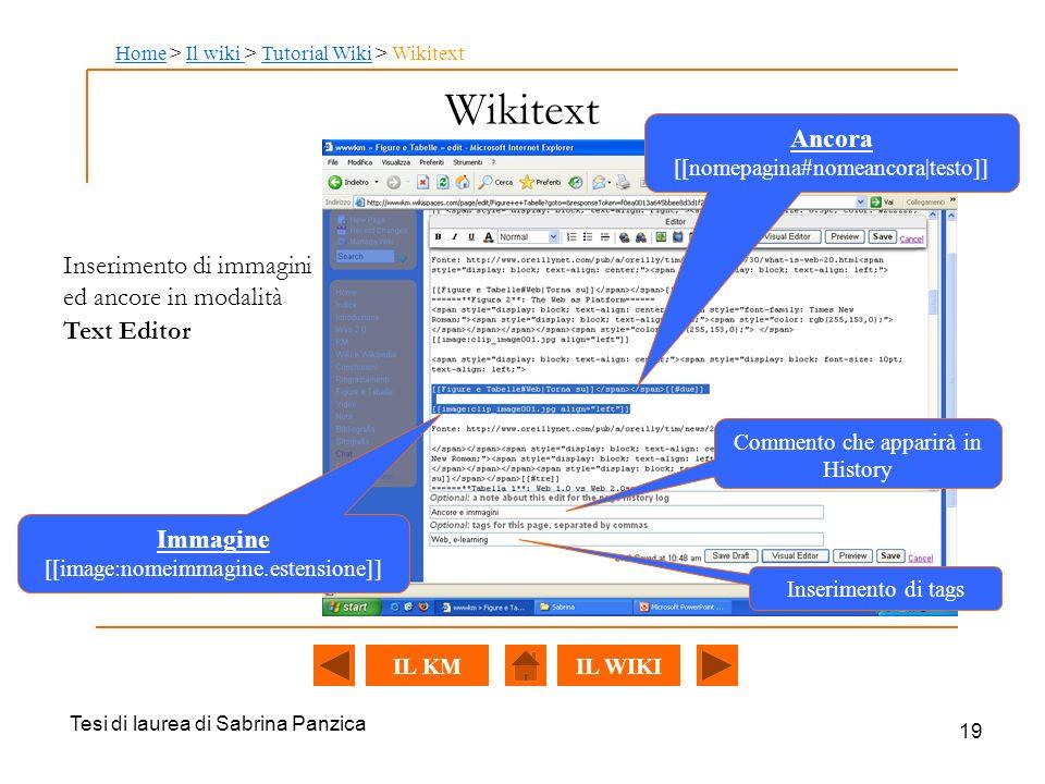 Home > Il wiki > Tutorial Wiki > Wikitext