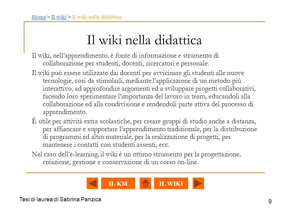 Il wiki nella didattica