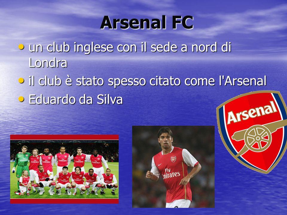 Arsenal FC un club inglese con il sede a nord di Londra