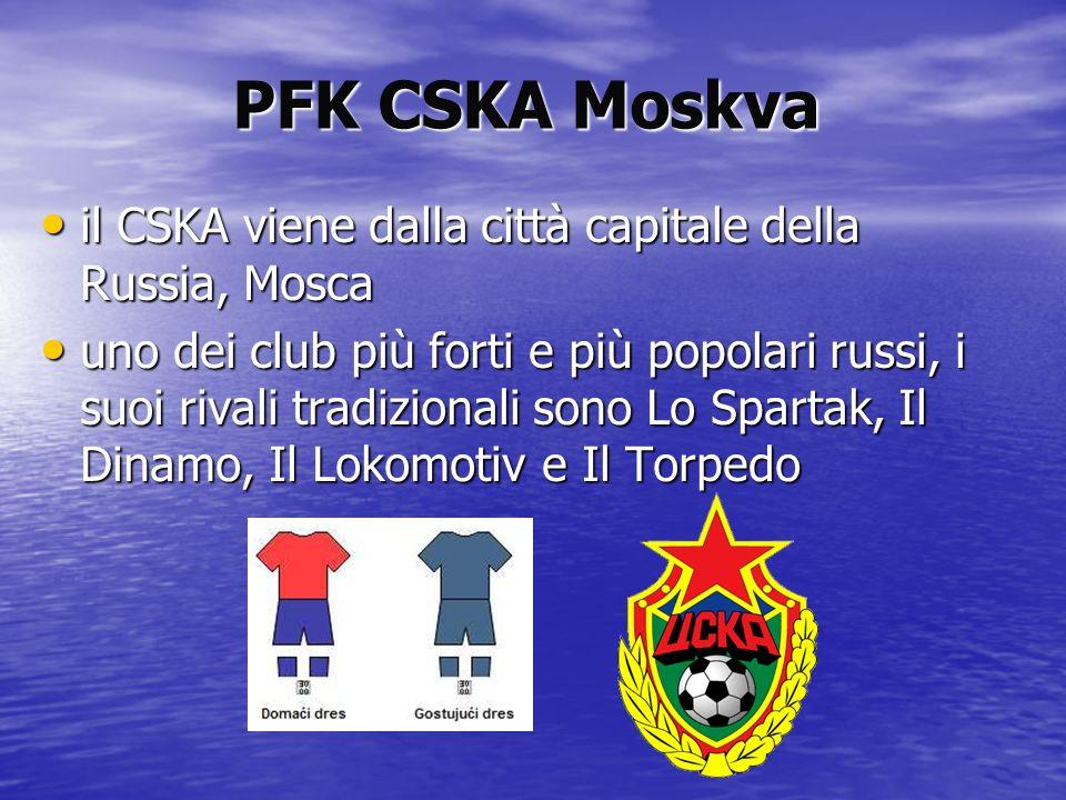 PFK CSKA Moskva il CSKA viene dalla città capitale della Russia, Mosca