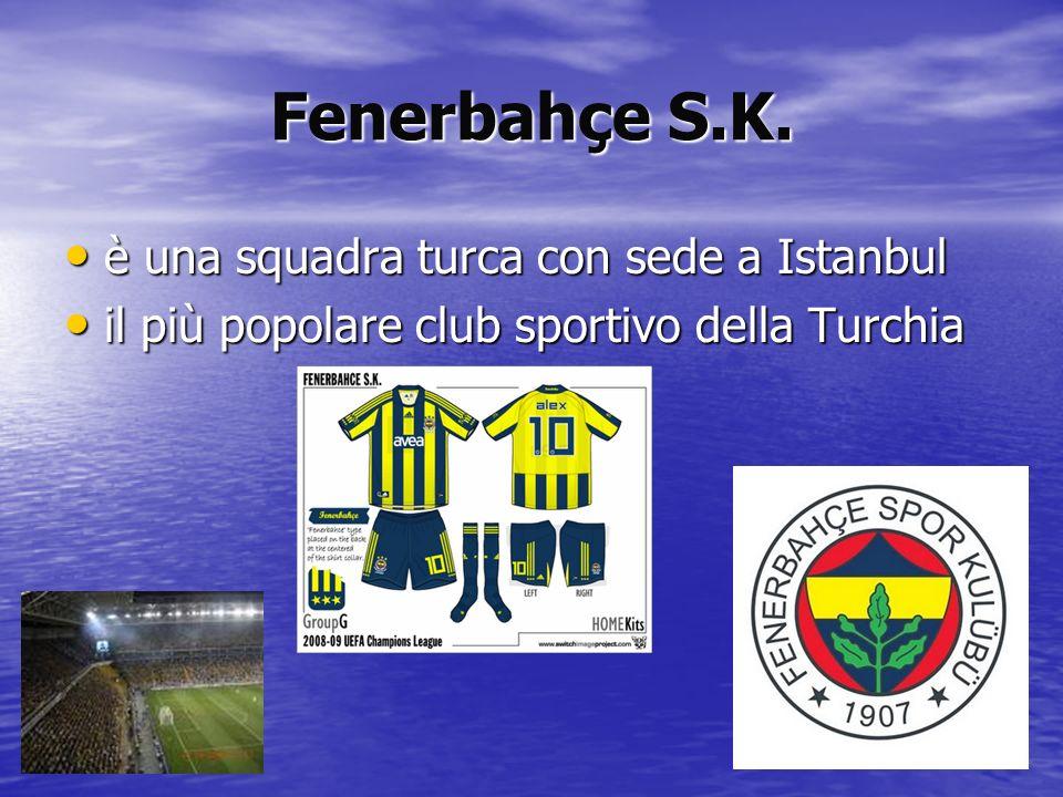 Fenerbahçe S.K. è una squadra turca con sede a Istanbul