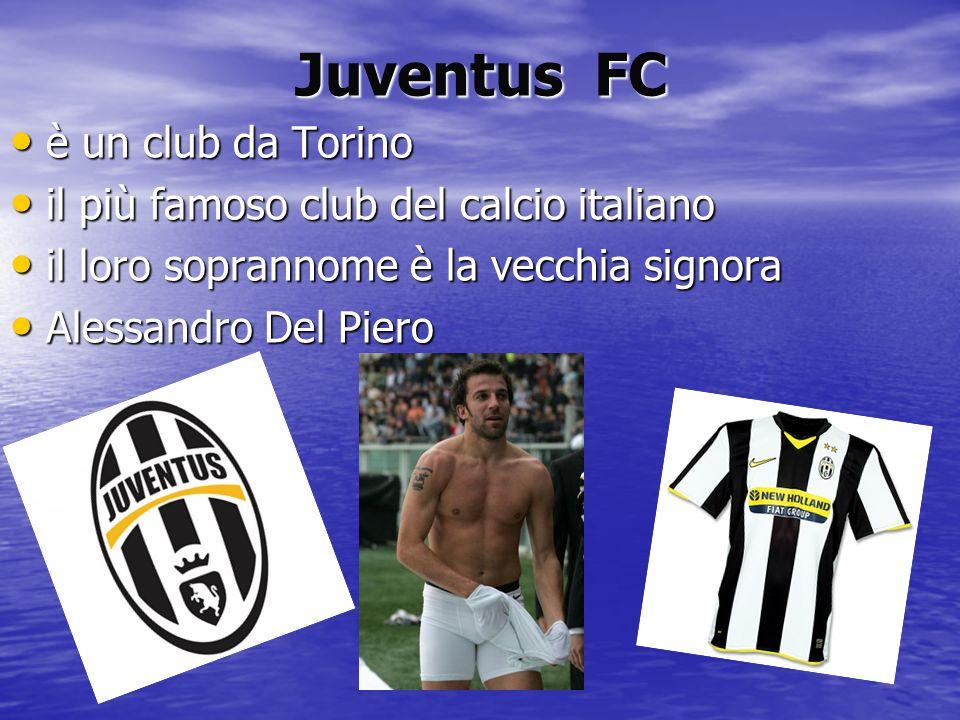 Juventus FC è un club da Torino il più famoso club del calcio italiano