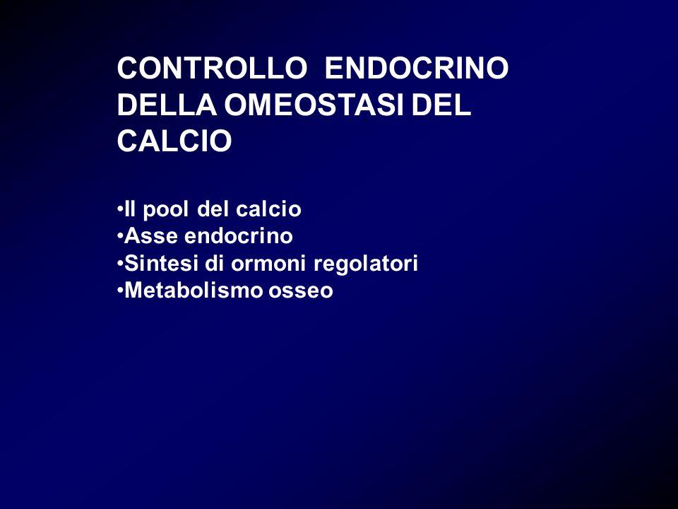 CONTROLLO ENDOCRINO DELLA OMEOSTASI DEL CALCIO
