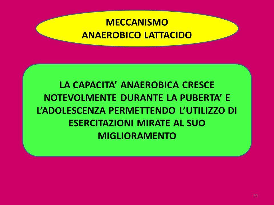 MECCANISMO ANAEROBICO LATTACIDO.