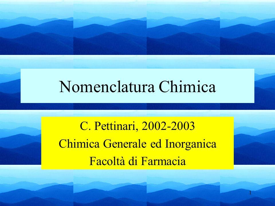 Chimica Generale ed Inorganica