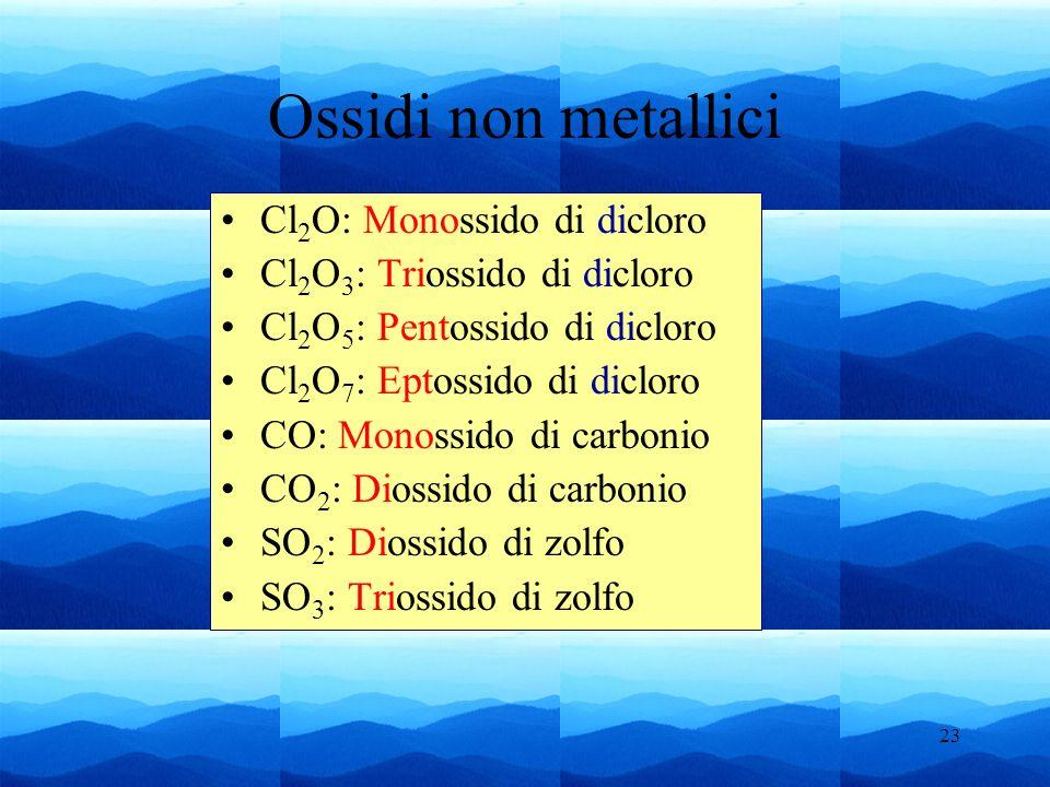 Ossidi non metallici Cl2O: Monossido di dicloro