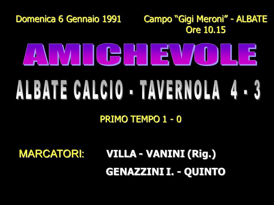 ALBATE CALCIO - TAVERNOLA 4 - 3