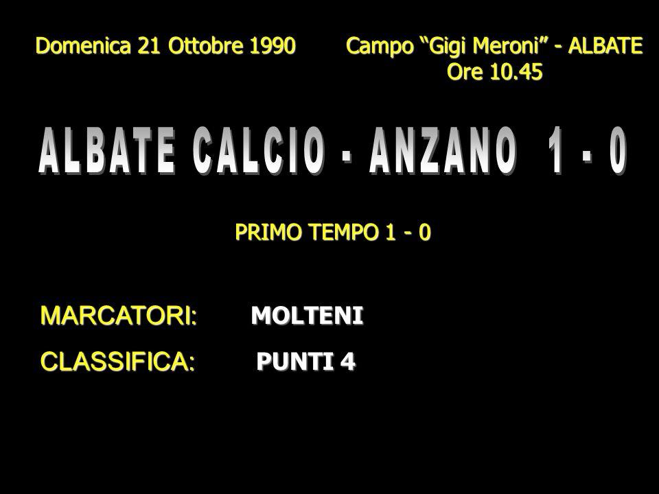 ALBATE CALCIO - ANZANO 1 - 0